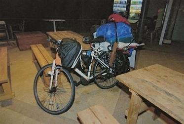 樋田容疑者の自転車